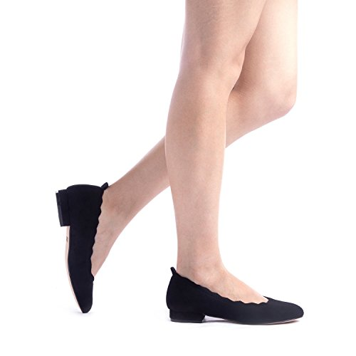 Pairs Shoes On Black Stacked Slip Low elle Flats Fashion Dream Women's Sole qvxwdZqfC