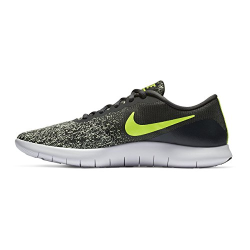NIKE Men's Flex Contact Running Shoe Anthracite/Volt-Barely Volt-White 9 by NIKE