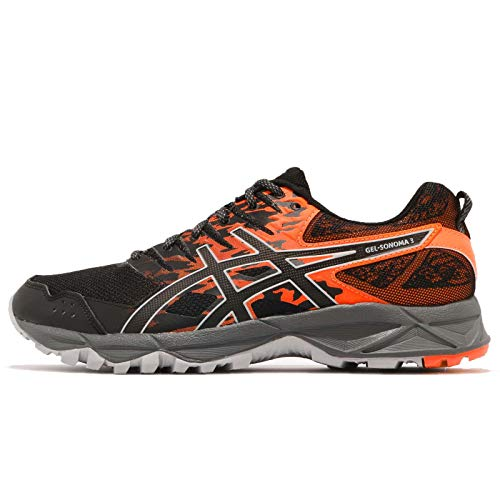 orange sonoma Gel Trial Noir Asics Chaussure 3 Course Aw18 T1nqw