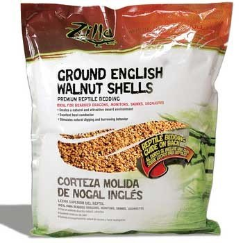 Zilla 11993 Englsh Walnut Shells Bedding, 50LB (Walnut Bedding)