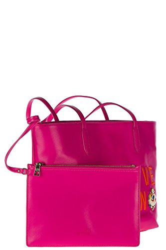 Love Moschino borsa donna a spalla shopping nuova originale fucsia