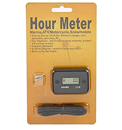 Waterproof Gaso Engine Inductive Hour Meter For Motorcycle RED NR-HM006 Motocross,Snowmobil,Motocross