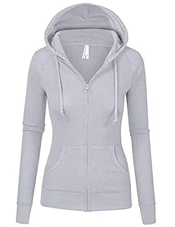 79df31700 TL Women's Comfy Versatile Warm Knitted Casual Zip-Up Hoodie Jackets ...