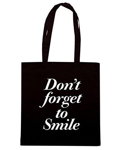T-Shirtshock - Bolsa para la compra CIT0169 non dimenticare di sorridere Negro