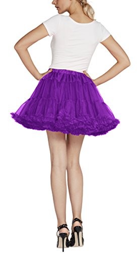 Urban CoCo Women's Petticoat Fancy Tutu Skirt Ballet Crinoline Underskirt (L, Grape) by Urban CoCo (Image #5)