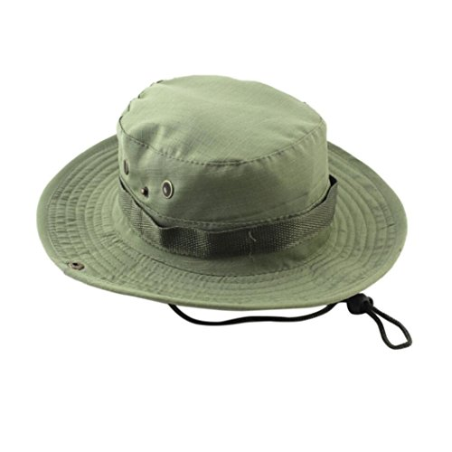 35bd8bf3c56 Hongxin Fishing Hat Jungle Military Camouflage Bucket Unisex UV Protection Wide  Brim Outdoor