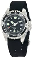 Momentum Men's 1M-DV00B8B M1 Stainless Steel Dive Watch with Black Canvas Band