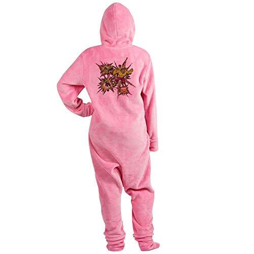 CafePress Hulk Triple Novelty Footed Pajamas, Funny Adult One-Piece PJ Sleepwear Pink -