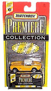 1995 - Tyco - Matchbox Premiere Collection - Select Class Series 3 - 1962 Corvette - Yellow & White - 1:64 Scale Die Cast - 1 of 25,000 - #34368-2 - New - Out of Production - Limited Edition - - Tyco Corvette
