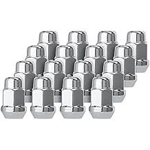 DPAccessories D3116-HT-2305/16 16 Chrome 12x1.5 Closed End Bulge Acorn Lug Nuts - Cone Seat - 19mm Hex Wheel Lug Nut