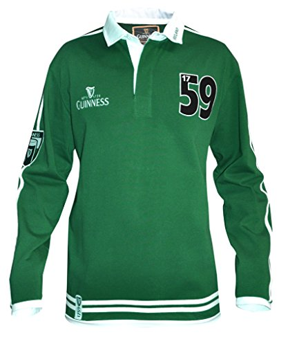 Traditional Arthur Guinness Signature Green Rugby Jersey (X Large) -