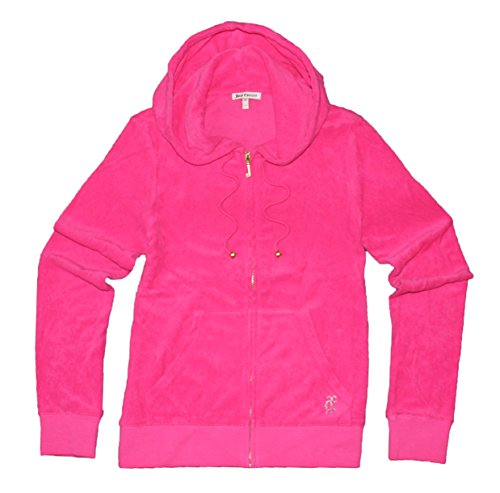 Juicy Couture Womens Solid M. Terry Hoodie (X Large, Highlighter Pink) (Terry Couture Juicy Hooded)