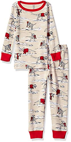 Gymboree Big Boys' 2-Piece Tight Fit Long Sleeve Long Bottoms Pajama Set, Dino Sweaters, 3 from Gymboree