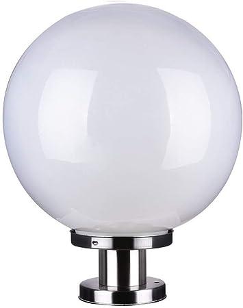Nkssztd Lámpara Exterior Lámpara de pie Lámpara de Pared Lámpara Exterior Lámpara esférica Lámpara de jardín Columna de acrílico Lámpara de Cabeza Lámpara Redonda (Size : 27cm): Amazon.es: Hogar