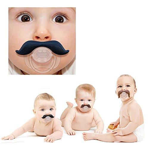 Amazon.com: Cute Barba Chupete Bebé chupetes Chupete ...