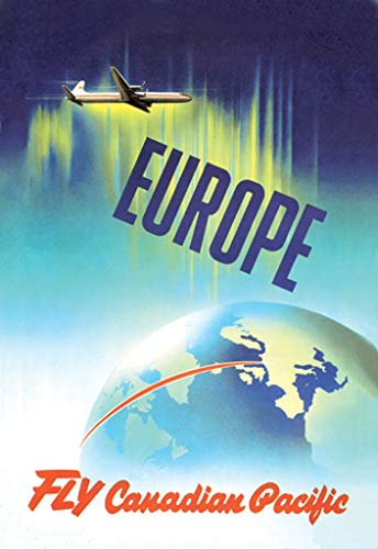 """Buyenlarge Europe Fly Canadian Pacific by P. Ewart Wall Decal, 36"""" H x 24"""" W"""