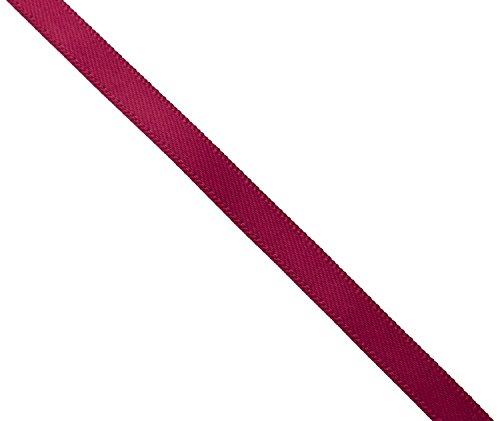 Kel-Toy Double Face Satin Ribbon, 3/8-Inch by 100-Yard, Burgundy (Ribbon Satin Burgundy)