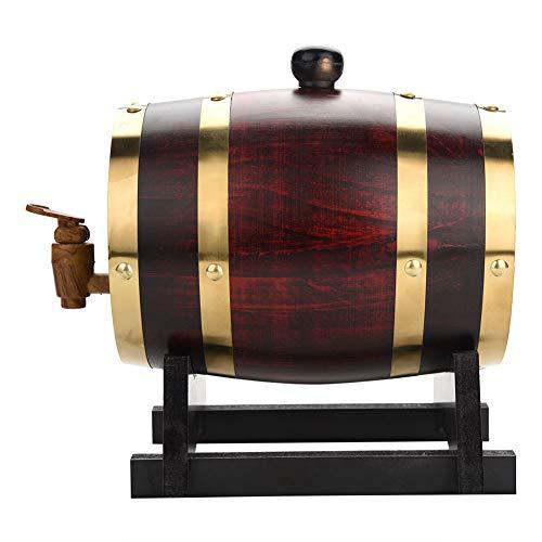 1.5L Oak Barrel, Whiskey Wood Oak Barrel Dispenser Pressure Tested for Leaks Storage for Whiskey, Brandy, Tequila, Rum Port by Zerone (Image #1)