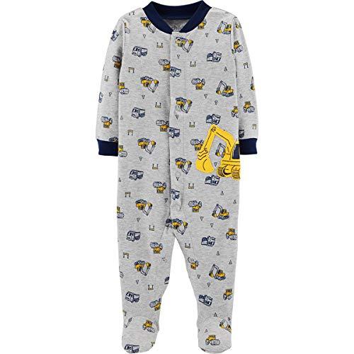 Preemie Baby Boys Sleeper Sleep N Play Footed, Construction Backhoe
