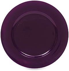 Purple Round Charger Plates (Set of 8)  sc 1 st  Amazon.com & Amazon.com: Purple - Dinner Plates / Plates: Home \u0026 Kitchen