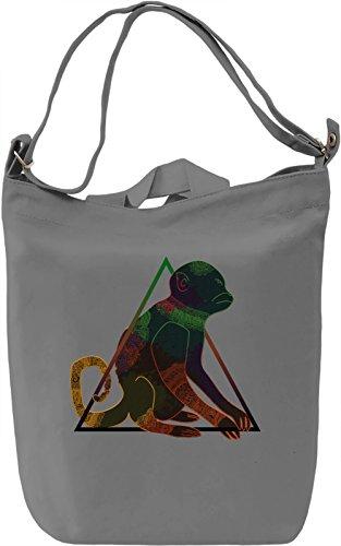 Triangle Monkey Borsa Giornaliera Canvas Canvas Day Bag| 100% Premium Cotton Canvas| DTG Printing|