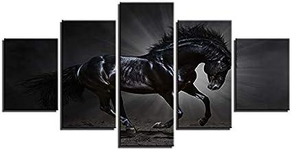 Unknow Caballo Negro Que representa el Poder, Lienzo de Arte de la Pared del Cartel, para la decoración de la Sala de Estar, sin Marco Qq1