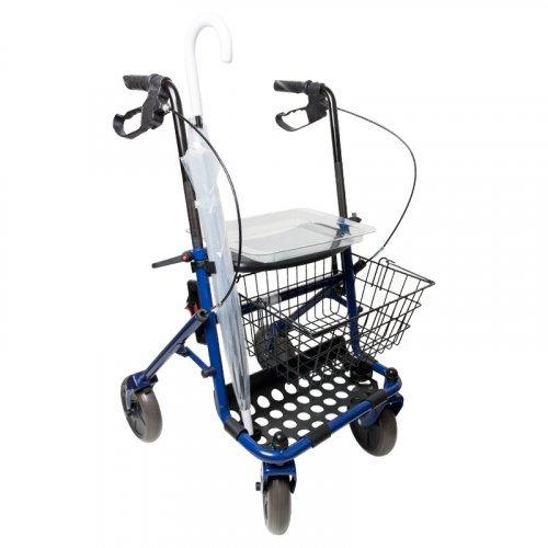 Andador con asiento para ancianos plegable rollator con cesta y ...