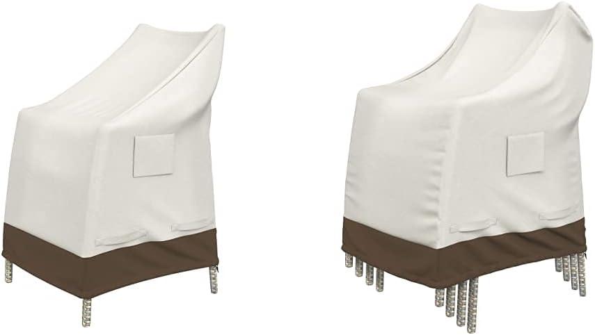 Amazon Basics High-Back Chair Outdoor Patio Furniture Cover & Outdoor Stackable-Chair Patio Furniture Cover