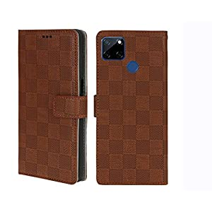 RK Seller Flip Case Cover Realme Narzo 30A PU Leather Case with Card Holder and Magnetic Stand-(Brown)(Shockproof)