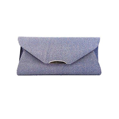 Bq Light - Women Wedding Bag Evening Party Shoulder Bag Purse Handbag (Light grey)