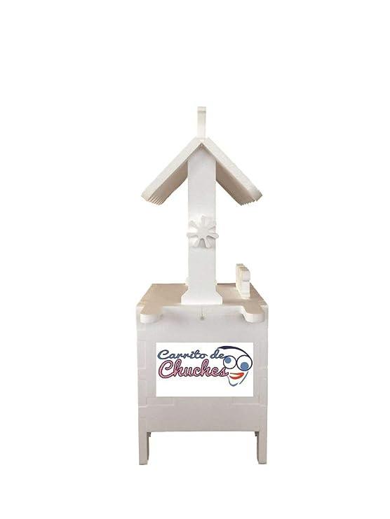 CARRITO DE CHUCHES Candy Cart Happy Birthday Azul.para Decorar.Reutilizable,Medidas 132CMS(Alto) X56CMS(Largo) X47CMS(Fondo) Fabricado en Material XPS ...