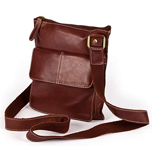 mano tasca Borsa a con frontale Eastern Leather Donna Claire Rosso Counties ItXR0f