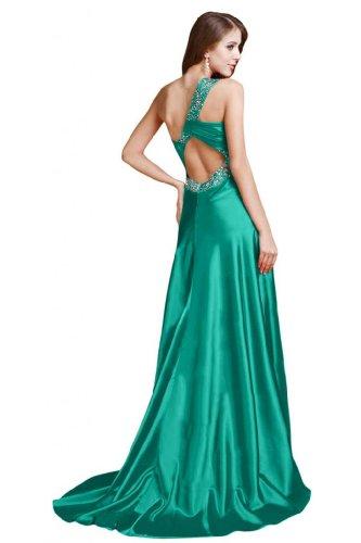da spalla Line Sunvary Dress Sexy Verdone Prom una abito sera A raso wqESgHq