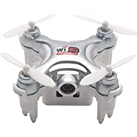 kantianKONG kantianKONG Cheerson CX-10WD-TX Mini FPV Drone With 0.3MP Camera 2.4G 6-Axis Gyro RC Quadcopter With Remote Control(Gray)