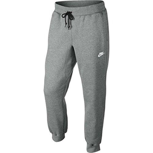 nike-mens-aw77-cuffed-fleece-sweatpants-dark-grey-white-598871-063-size-large