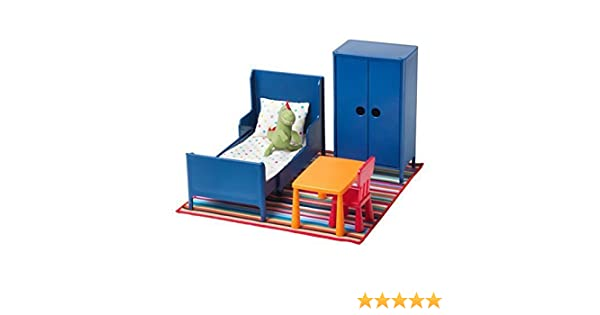 ikea dolls house furniture easy amazoncom huset doll furniture bedroom by ikea toys games