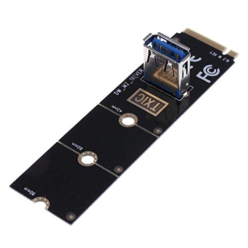 Blue-Ocean-11 - NGFF M.2 to USB3.0 Converter Adapter Graphic card Extender Card M.2 NGFF to PCI-E X16 Slot Transfer Card Mining m2 Riser Card from Blue-Ocean-11