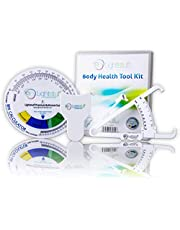 Lightstuff Body Fat Tester, Body Tape Measure, BMI Calculator - Instructions for Skinfold Caliper and Body Fat Charts Included