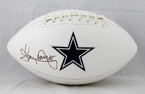 Tony Dorsett Autographed Football - Logo Witnessed Auth - JSA Certified - Autographed Footballs -