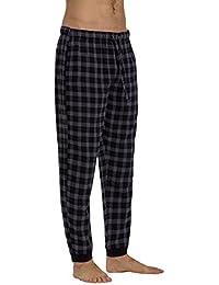 CYZ Men's 100% Cotton Flannel Jogger Pajama Lounge Pant