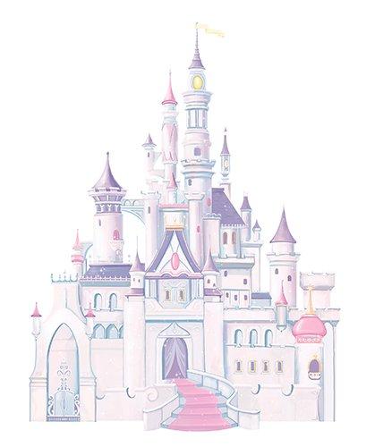 Roommates Rmk1546Gm Disney Princess Glitter Castle Peel U0026 Stick Giant Wall  Decal