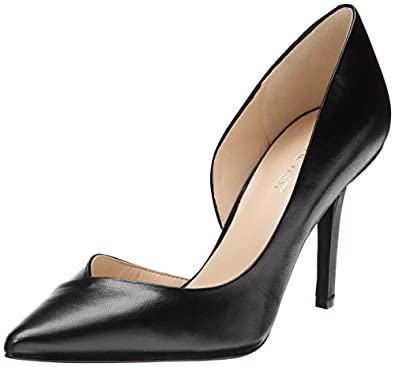 nine west women 39 s jowzer leather d 39 orsay pump black 8 5 m us pumps. Black Bedroom Furniture Sets. Home Design Ideas