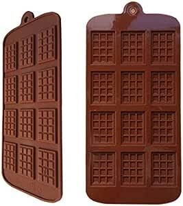 Moldes de silicona para caramelos con 12 cavidades, sin BPA, barritas energéticas, mini molde para chocolate con monodosis