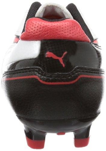 Puma Momentta FG Jr Unisex-Kinder Fußballschuhe Weiß (metallic white-high risk red-black 05)