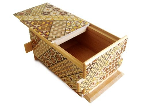 Japanese Yosegi Puzzle Box 5 Sun 21 Moves by Bene Gifts by Bene Gifts