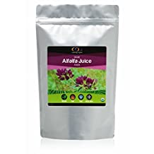 Raw Organic Freeze Dried Alfalfa Grass Juice Powder 0.454 Kg, (1 Lb) - High levels of Chlorophyll and Antioxidants