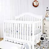 TILLYOU 1-Pack Padded Baby Crib Rail Cover