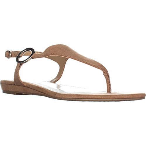 Alfani Womens Honnee Open Toe Casual Ankle Strap Sandals Camel