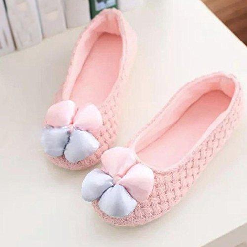 Elevin (tm) Nuove Donne Incinte Pantofole Da Casa Giunture Invernali Scarpe Calde Scarpe Da Yoga Rosa 5