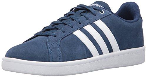Adidas NEO Men's CF Advantage Sneaker, Mystery Blue/White/Matte Silver, 9.5 Medium US
